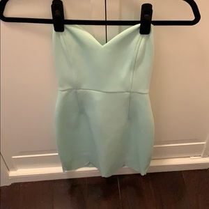 Mint strapless Tobi bodycon minidress